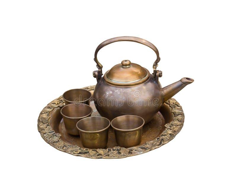 Vintage Tea Pot Set Royalty Free Stock Image