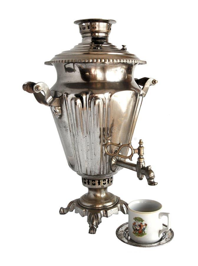 Vintage tea samovar royalty free stock images