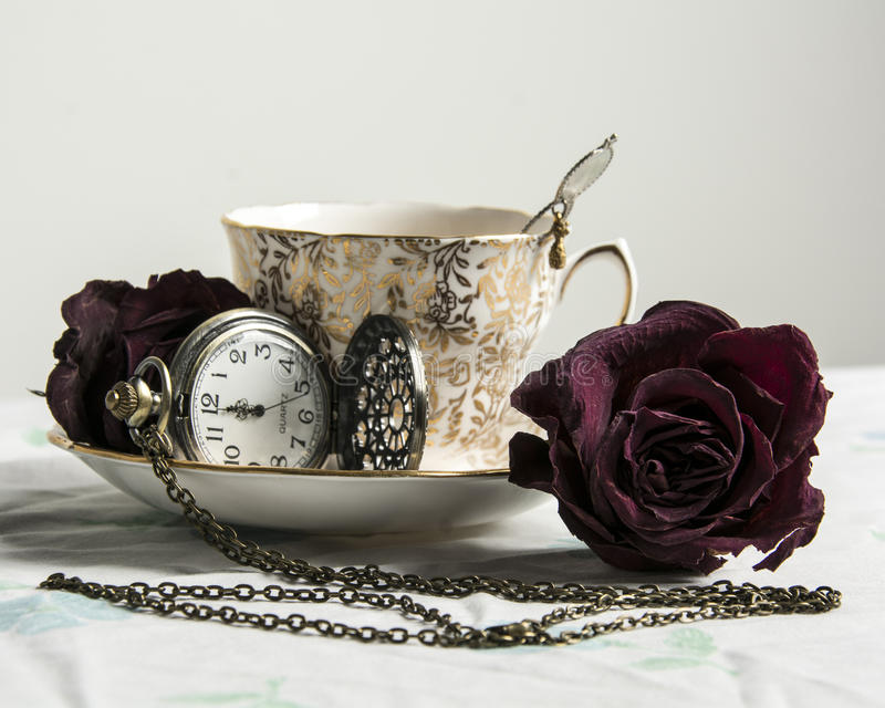 Vintage Tea Still Life 2 stock photos