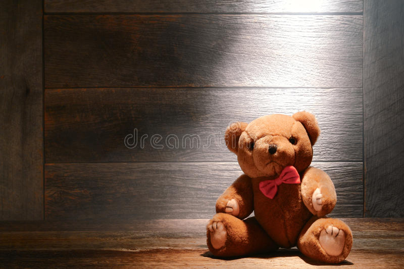 Download Vintage Teddy Bear Toy In Dusty Old House Attic Stock Image - Image: 27060173