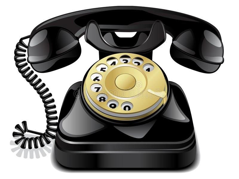 Download Vintage telephone stock vector. Illustration of ring - 19481224