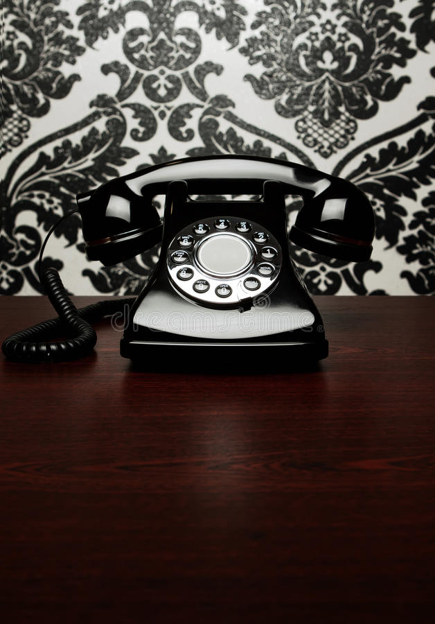 Download Vintage Telephone At The Desk Stock Photo - Image: 22518458