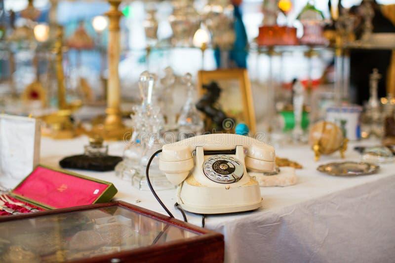 Download Vintage Telephone On Parisian Flea Market Stock Photo - Image: 37889026