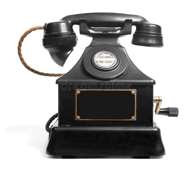 Old Vintage Magneto Telephone royalty free stock photos