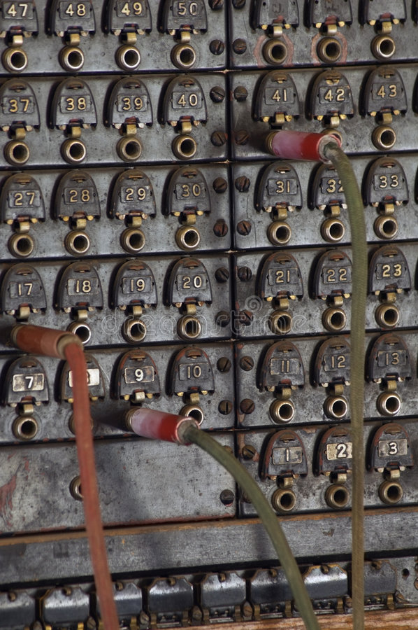 Free Vintage Telephone Switchboard Royalty Free Stock Photography - 1204687