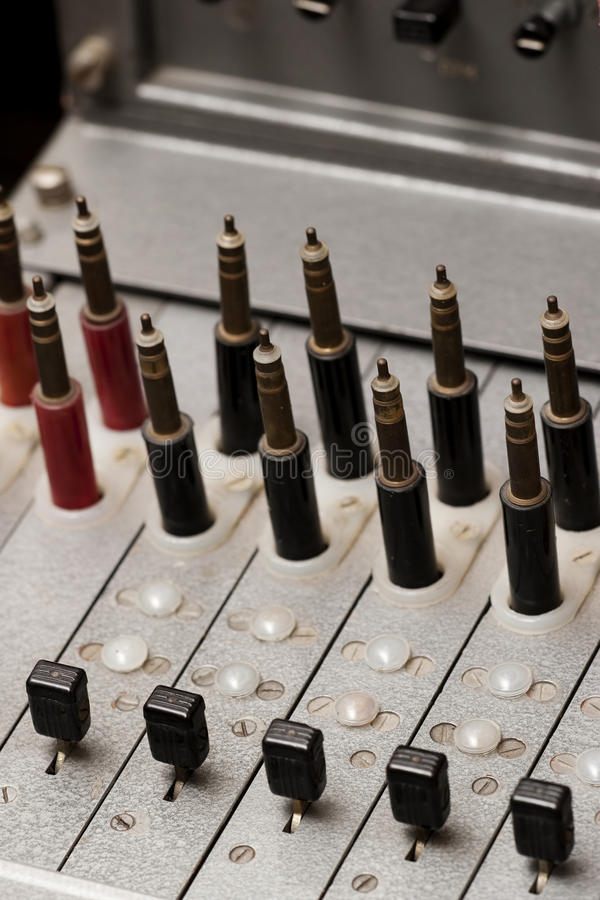 Vintage Telephone Switchboard Royalty Free Stock Images