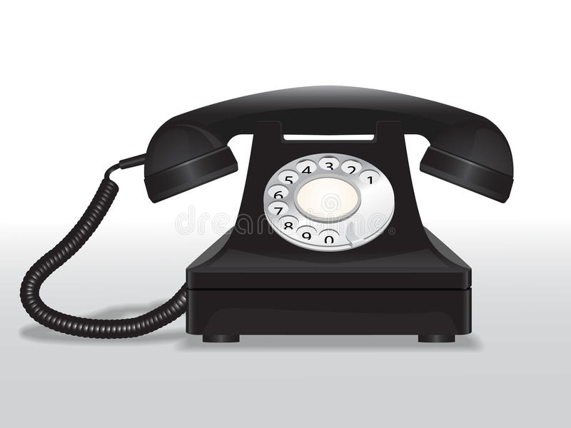 Download Vintage telephone stock vector. Image of contact, old - 32249716