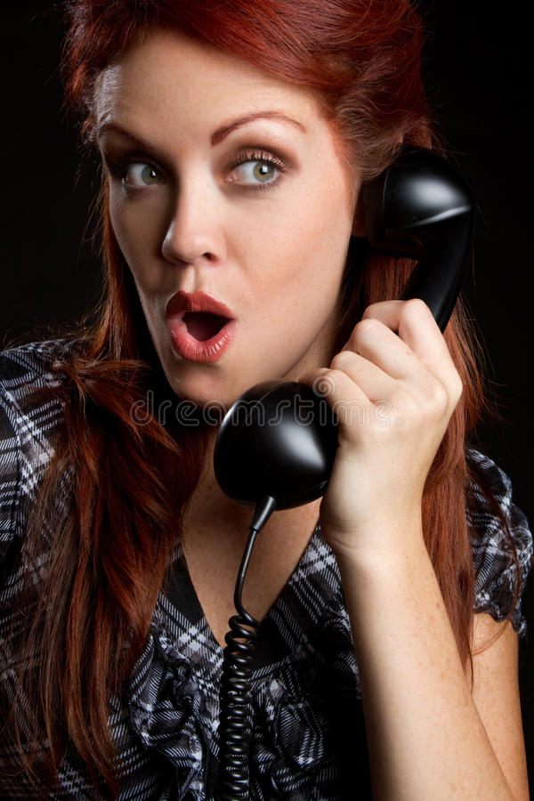 Download Vintage Telephone Woman stock image. Image of hair, expression - 16150487