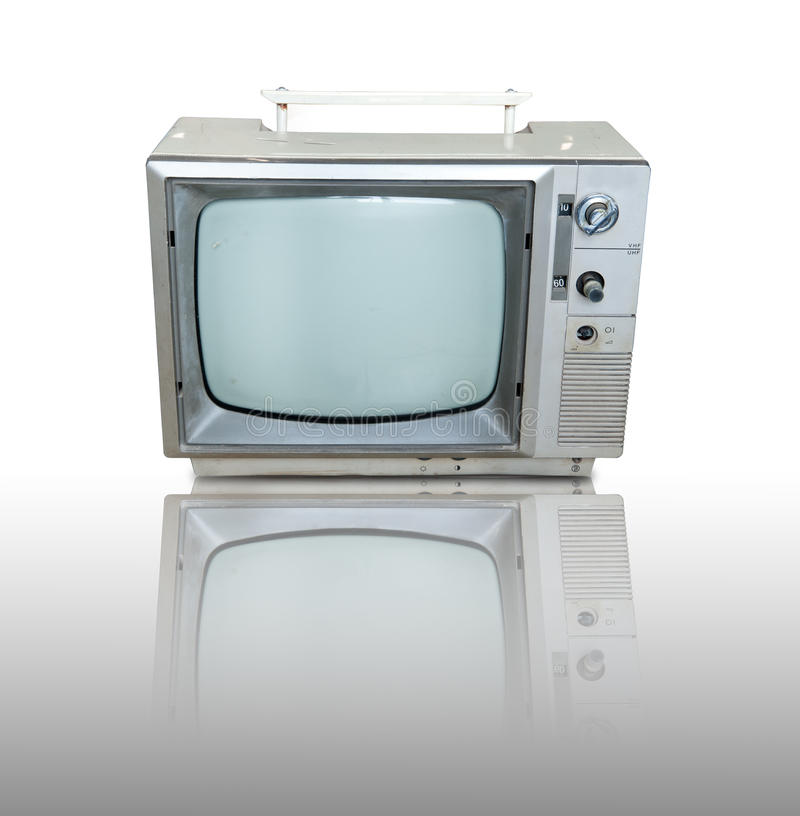 Download Vintage Television  With Reflection Stock Illustration - Illustration: 21388030