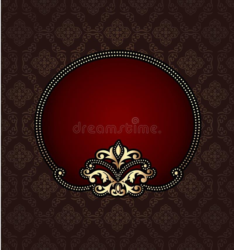 Vintage template design royalty free illustration