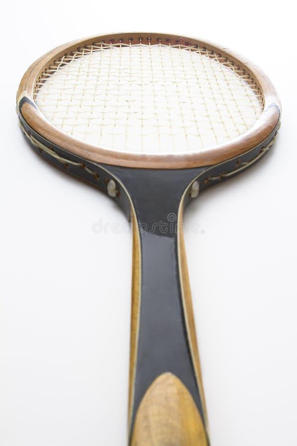 Vintage tennis racket stock image