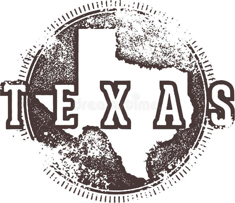Vintage Texas Sign ilustração stock