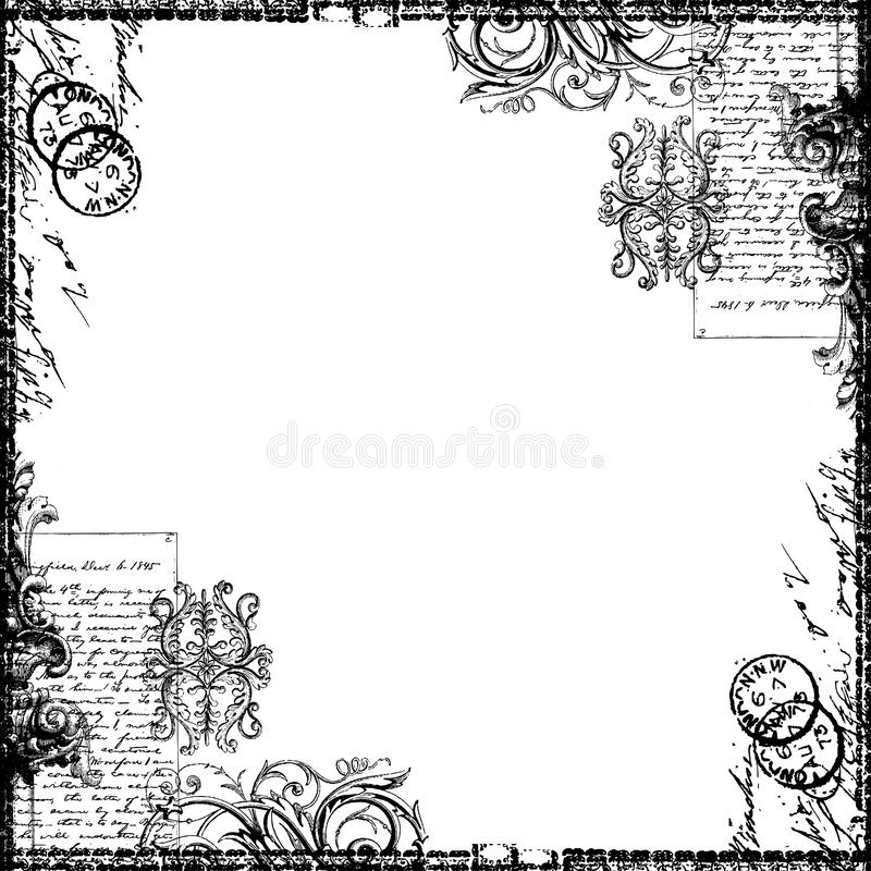 Free Vintage Text Collage Victorian Background Paper Stock Photography - 9108242