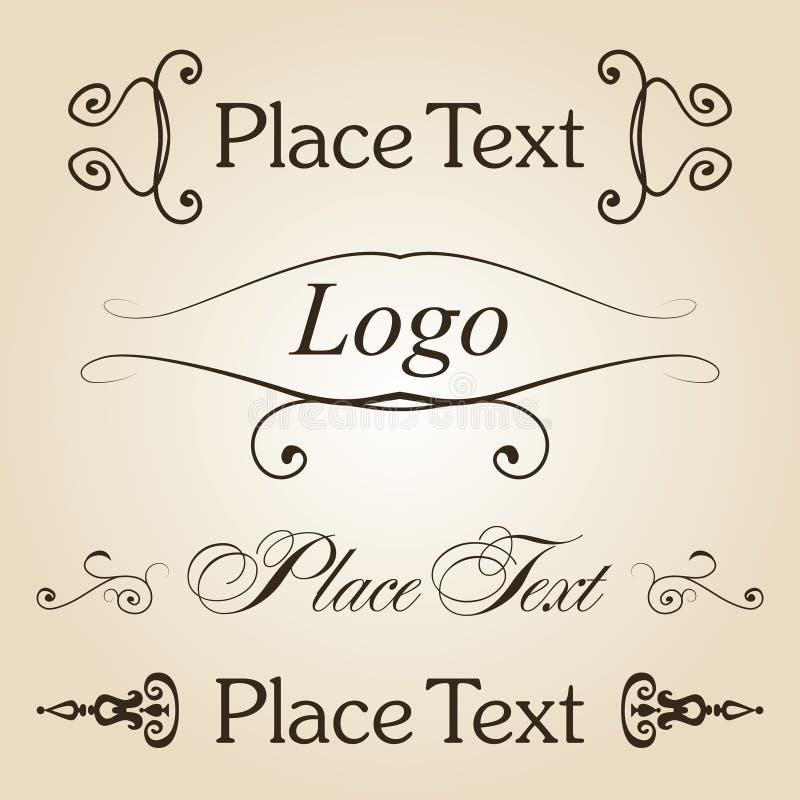 Vintage text set. Vector eps 10 royalty free illustration