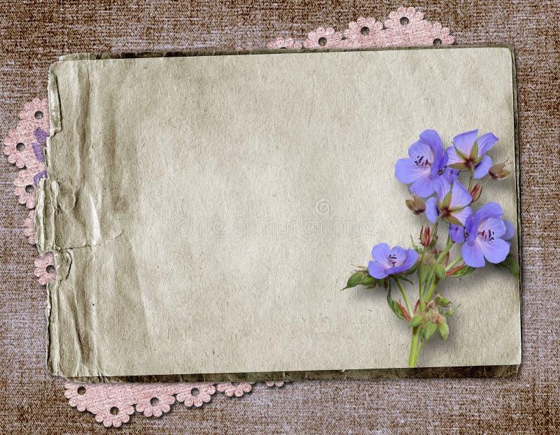 Vintage textile background stock illustration