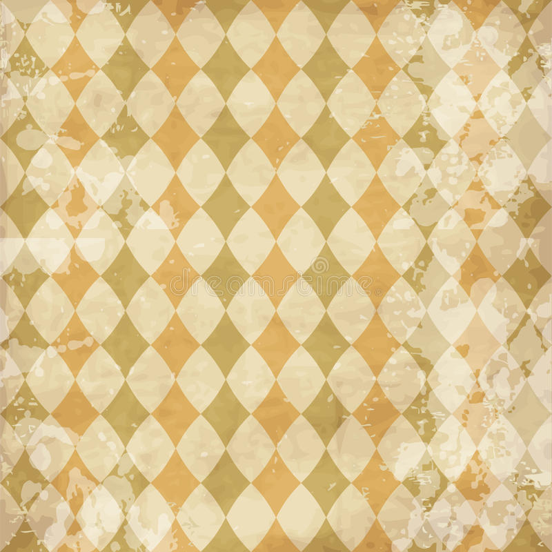 Vintage texture with rhombuses. Worn distressed design for scrap-booking vector illustration