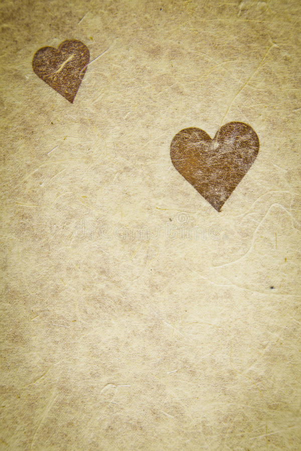 Vintage Textured Paper With Heart royalty free stock images