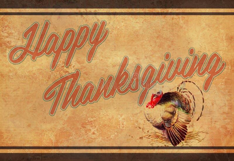 Vintage Thanksgiving vector illustration