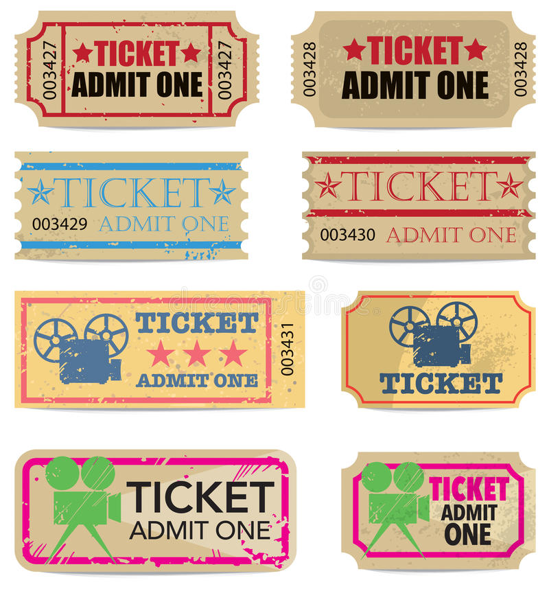 Vintage Tickets royalty free illustration