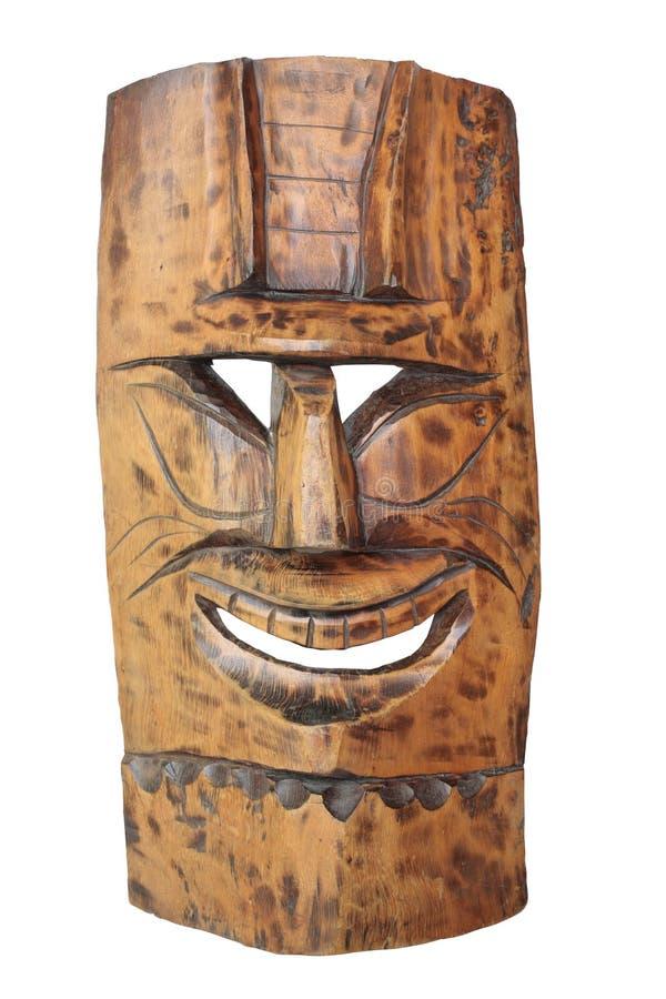 Vintage Tiki Mask. Isolated on white stock photos
