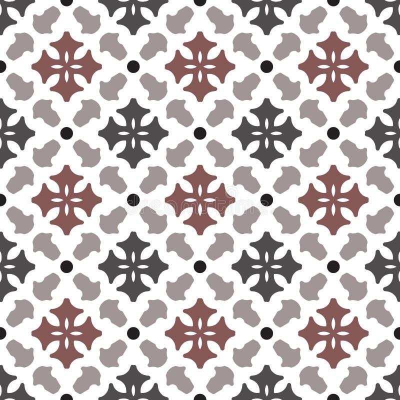Vintage tile pattern vector stock photo