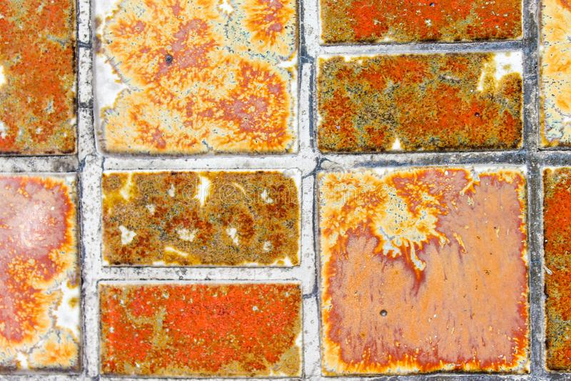 Vintage Tile Mosaic Surface Ancient Mural royalty free stock photos