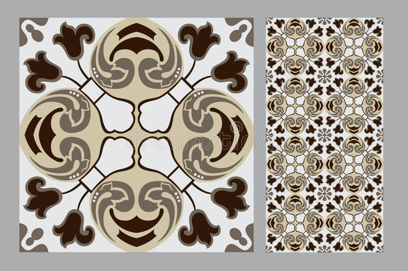 Vintage tile royalty free stock photography