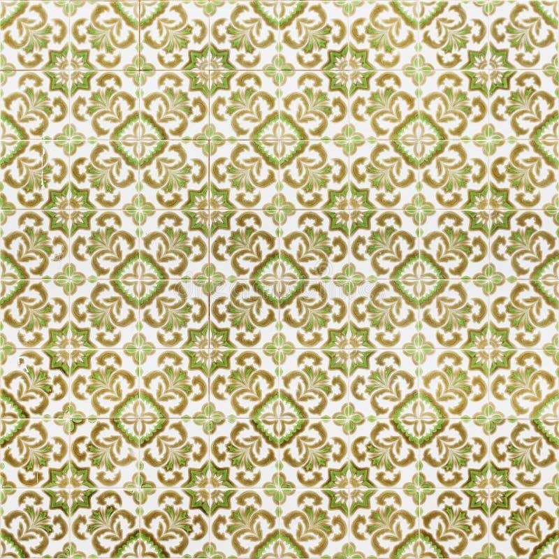 Vintage tiles pattern stock image