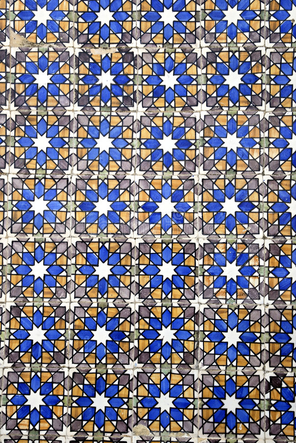 Vintage tiles from Portugal stock photography