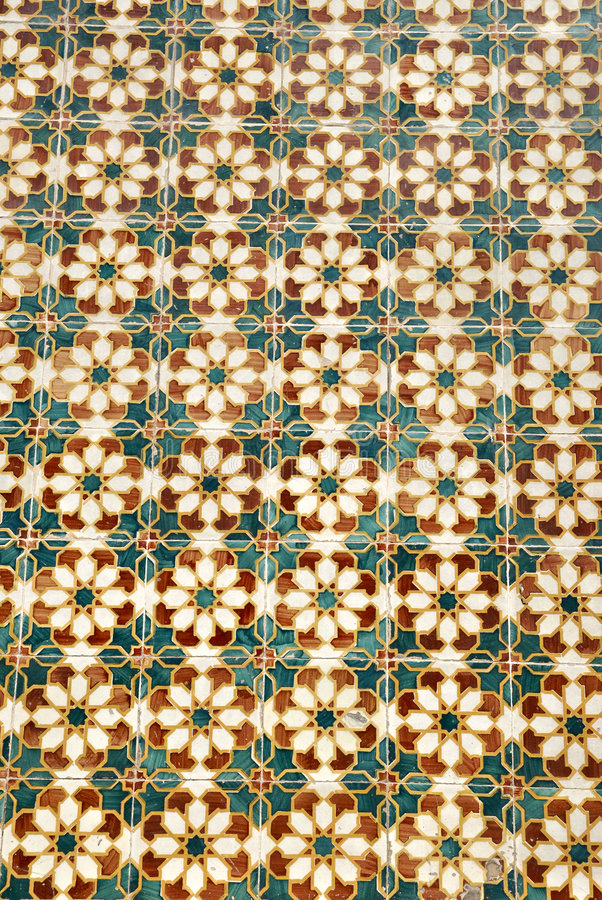 Vintage tiles from Portugal stock images