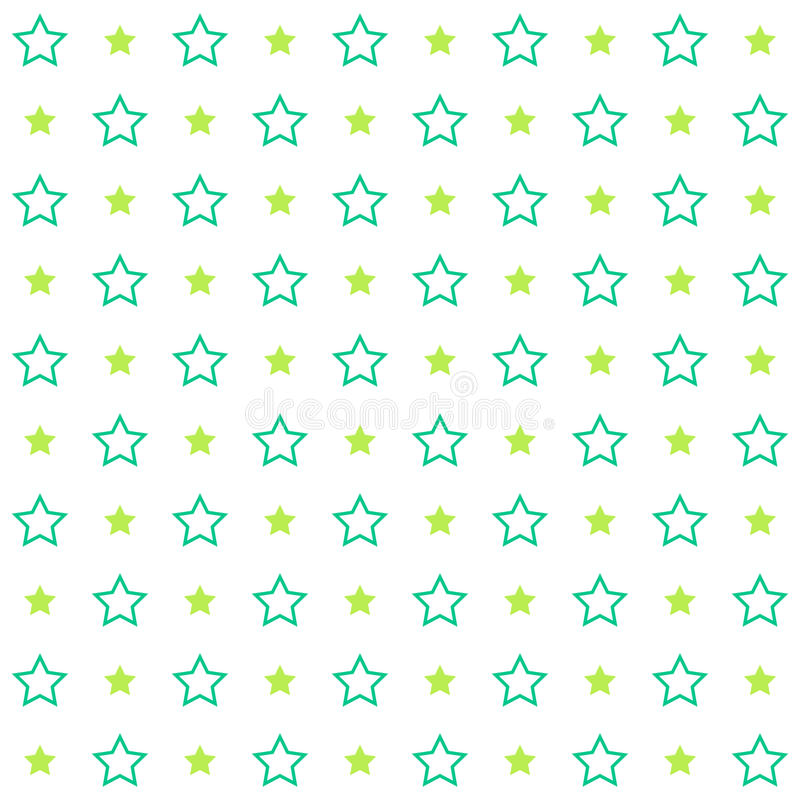 Vintage tiling seamless pattern with stroked stars. Abstract retro ornament made of simple shapes royalty free illustration