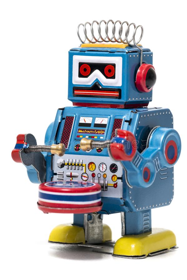 Free Vintage Tin Robot Toy Stock Images - 107184764