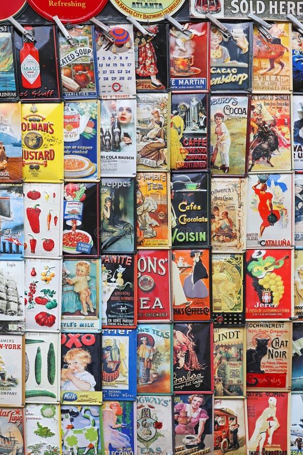 Vintage Tin Signs imagem de stock royalty free