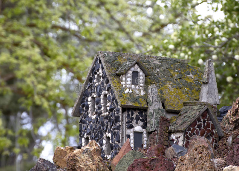 Vintage Tiny Fairy Tale Rock Cottage royalty free stock photography