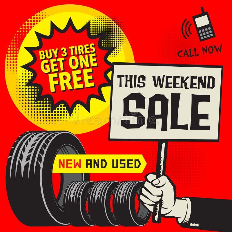 Free Vintage Tire Service Or Garage Poster Stock Image - 113429081