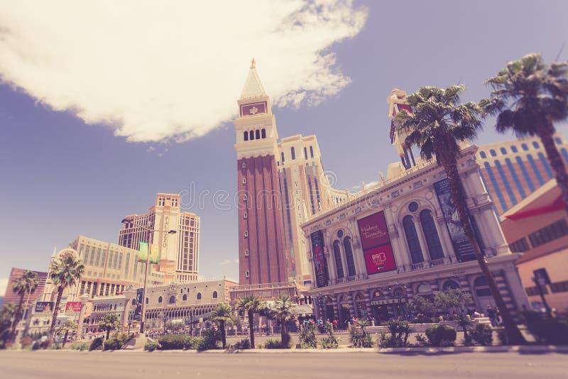Vintage toned Las Vegas Strip royalty free stock image