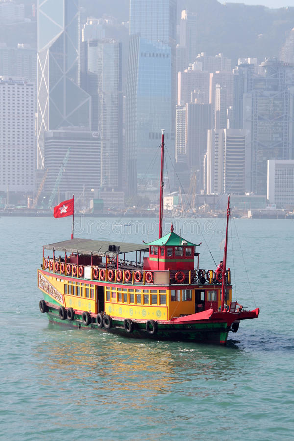 Vintage Tour Boat In Hong Kong Stock Photography