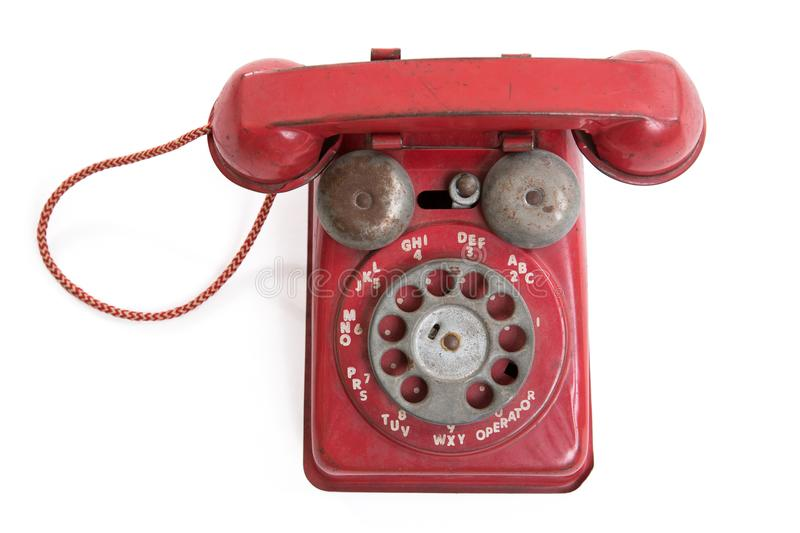 Vintage Toy Rotary Phone images stock