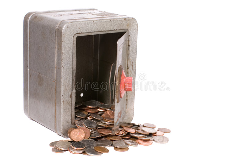 Download Vintage Toy Safe And Money stock image. Image of financial - 4273861