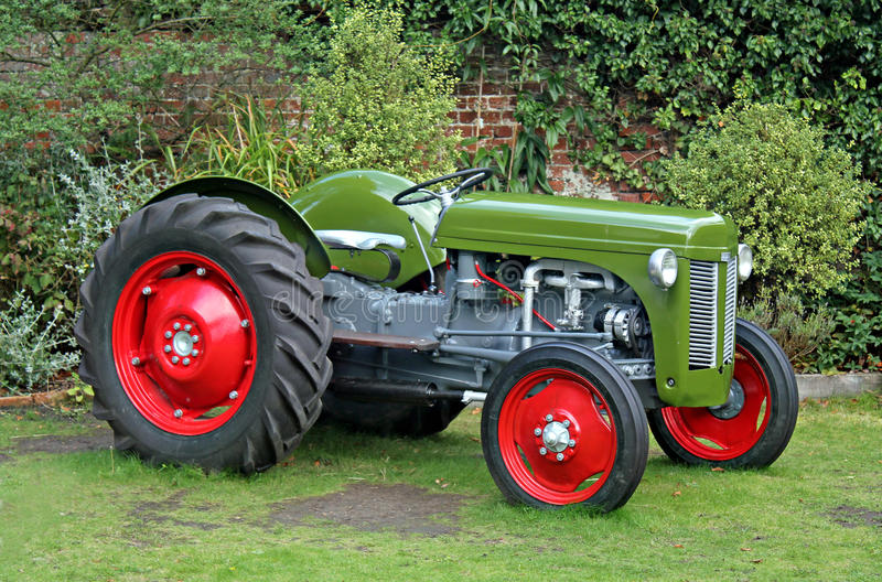 Vintage tractor royalty free stock photos