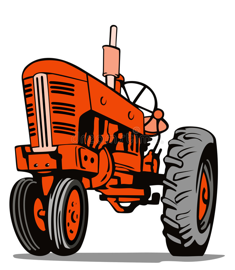 Vintage tractor royalty free illustration