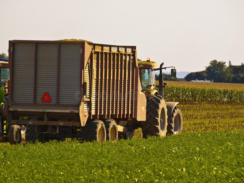 Vintage Tractor in an Amish Farm. Lancaster USA royalty free stock photo