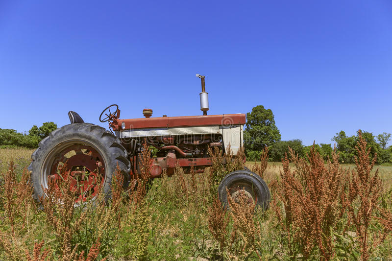 Vintage Tractor Finger Lakes royalty free stock photo