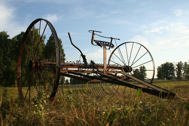 Download Vintage Tractor Rake For Collecting Hay Stock Photo - Image of field, sickle: 8177016