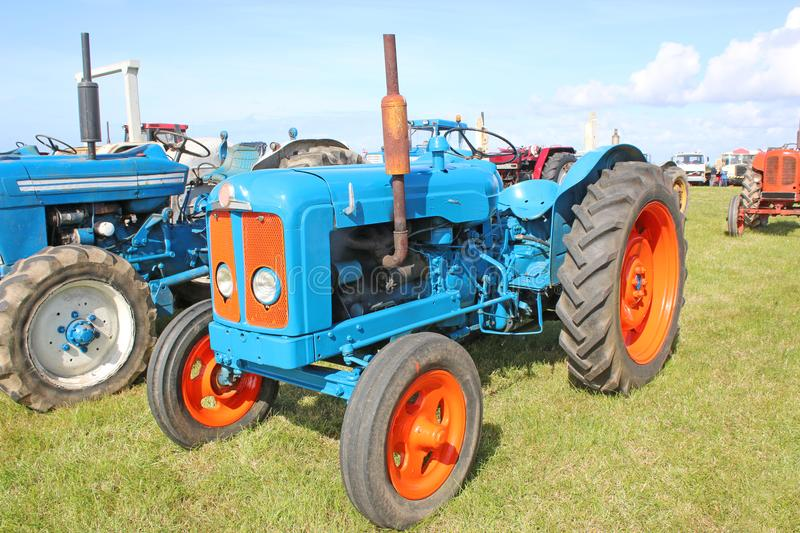 Vintage tractors. In a field royalty free stock images