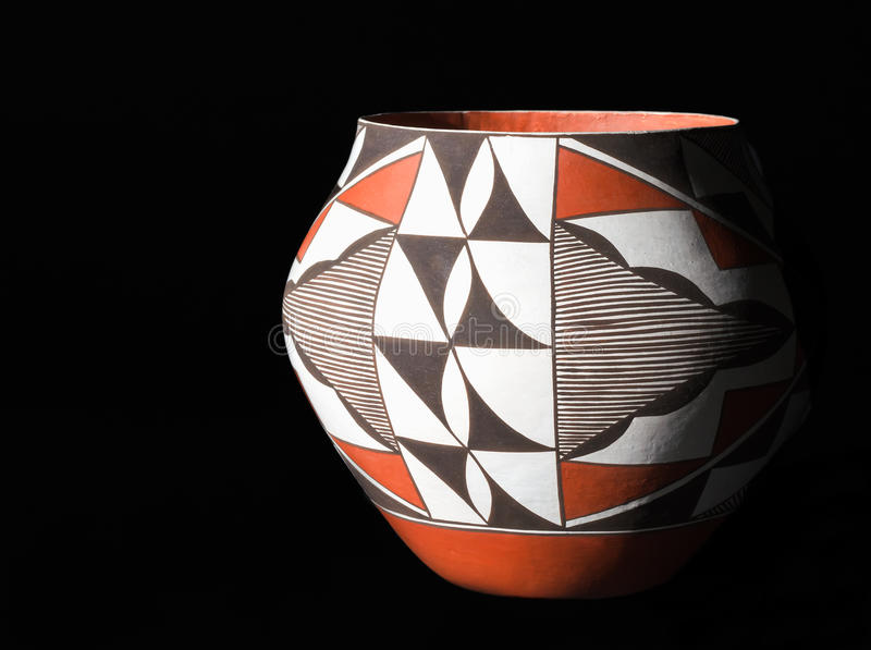 Traditional Native American Pueblo Pottery stock photo