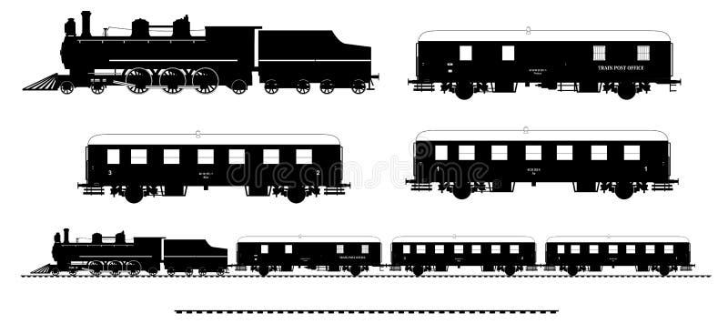 Vintage train kit stock illustration