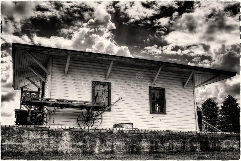 Download Vintage Train Station Loading Platform Stock Image