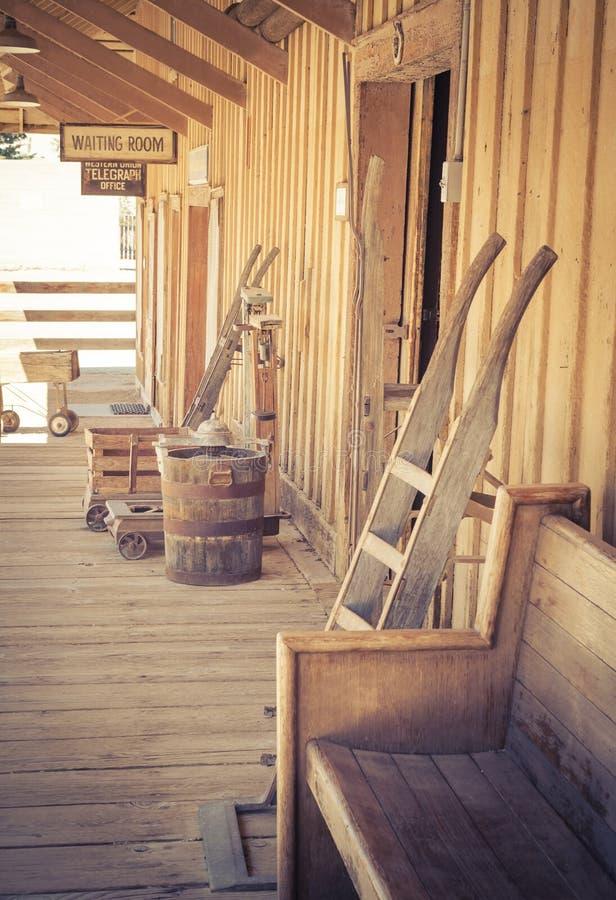 Vintage Train Station stock photos