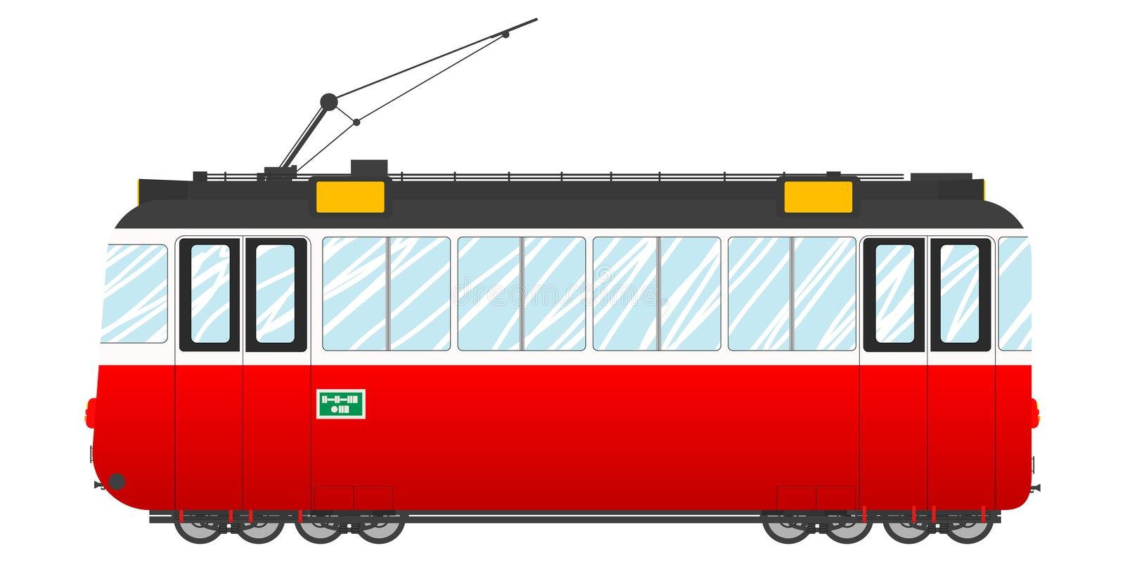 Download Vintage tram stock vector. Image of machine, rail, drawing - 22010702